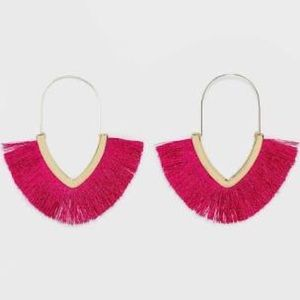 Sugarfix by Baublebar Pink Fan Statement Earrings